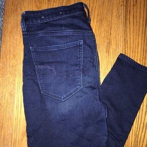 American Eagle super high waisted skinny jeans